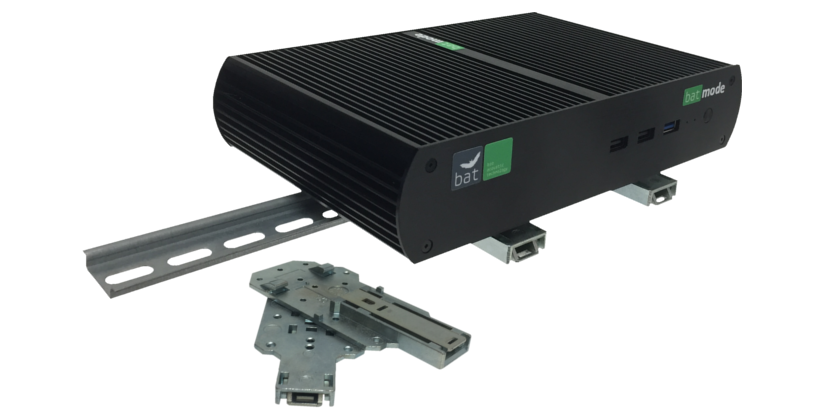 DIN rail mounting kit<h5>Extend the mounting possibilities of your BATmode-System</h5>