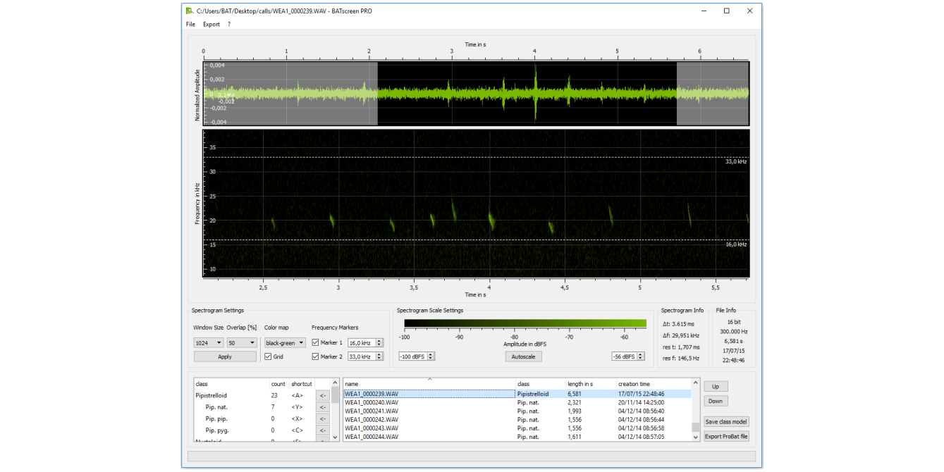 BATscreen<h5>The perfect tool for manual bat call analysis</h5>