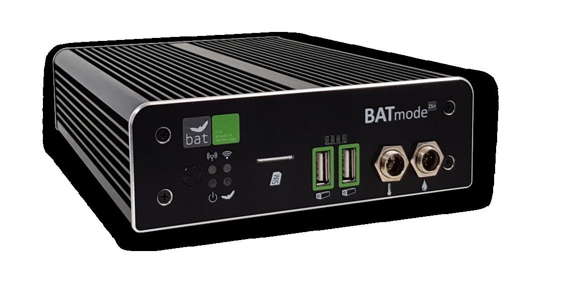 BATmode 2S/2S+ System<h5>Der mehrkanalfähige Nachfolger des BATmode S/S+ für ein kosteneffizientes Fledermaus-Monitoring mit bis zu vier Mikrofonen</h5>